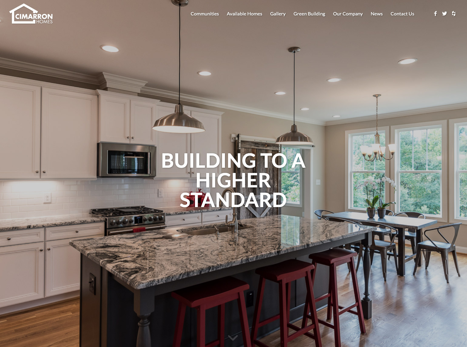 Cimarron Homes website