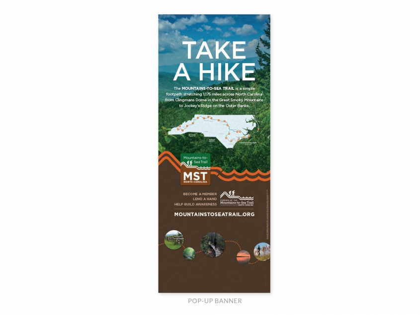Friends of the Mountains-to-Sea Trail pop-up banner