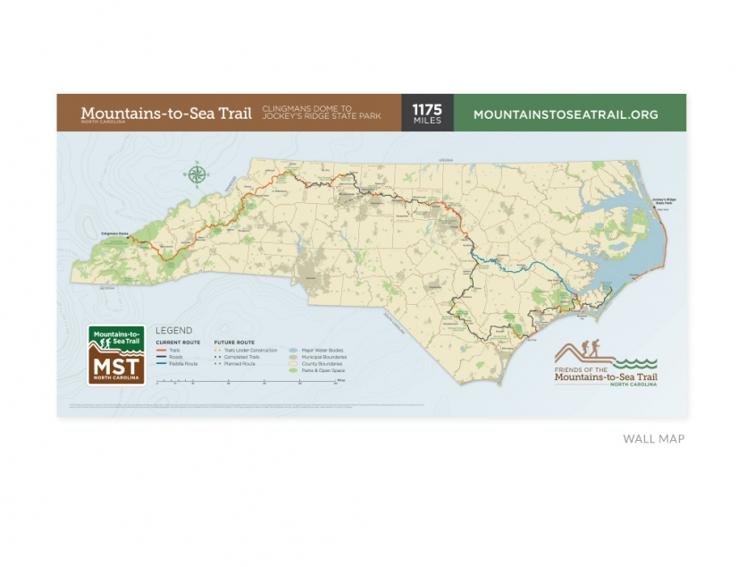 Friends of the Mountains-to-Sea Trail wall map