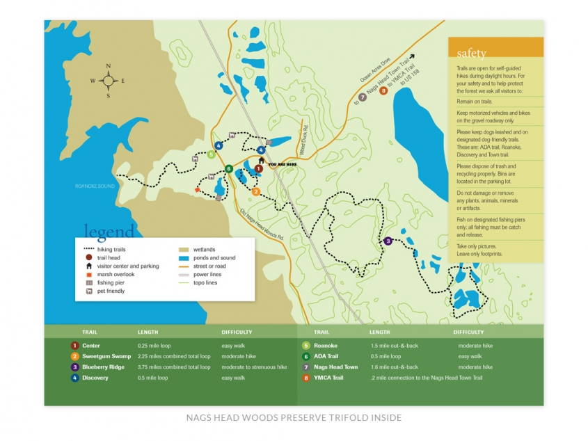 The Nature Conservancy NC Chapter Nags Head Woods Preserve trail map