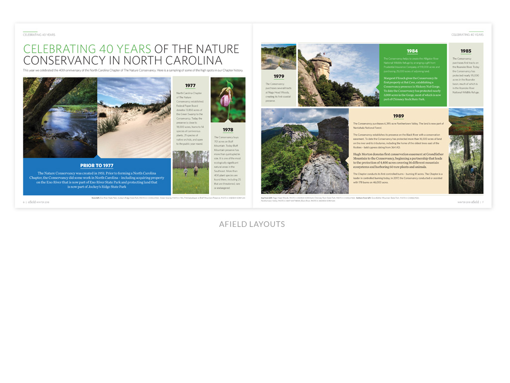 The Nature Conservancy NC Chapter Afield newsletter