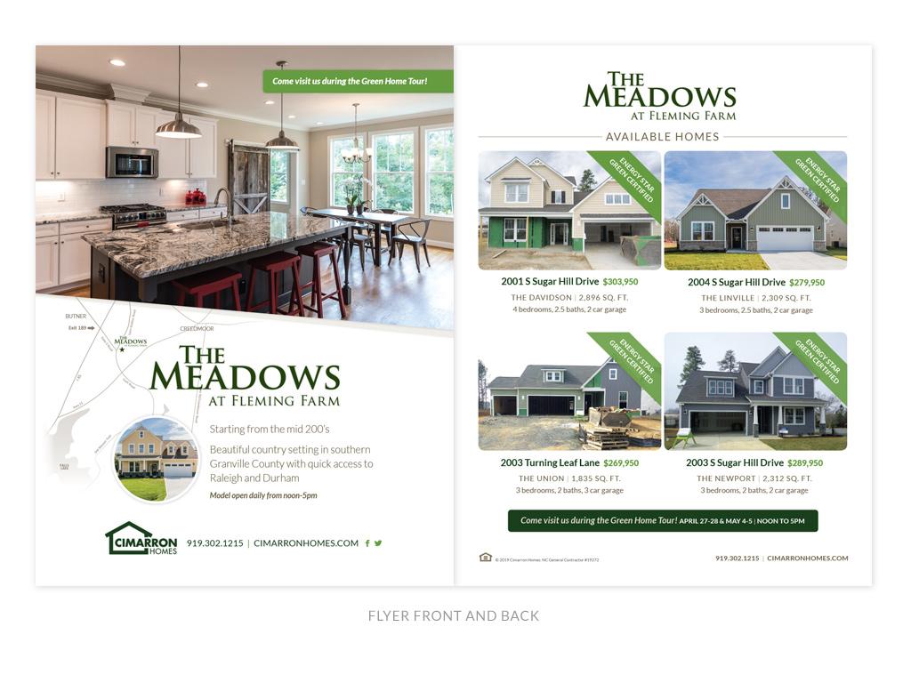 Cimarron Homes flyer