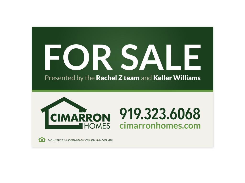 Cimarron Homes signage