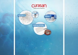 Trade show booth design for Curasan
