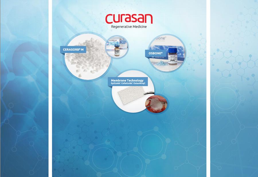 Trade show booth design for Curasan