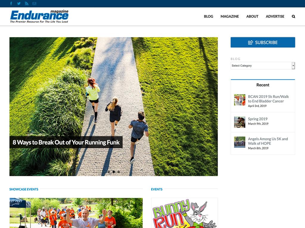 Endurance Magazine website
