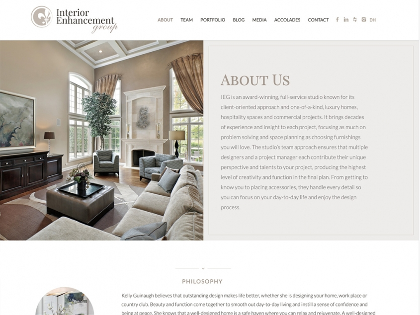 Interior Enhancement Group website