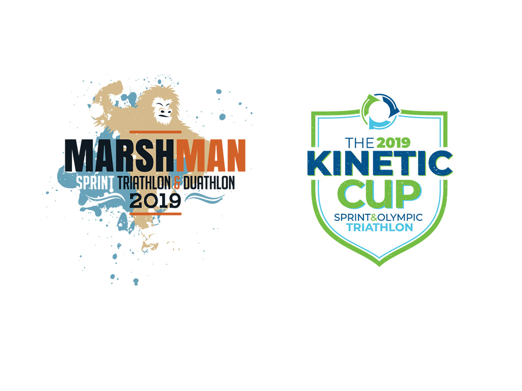 Kinetic Multisports race logos