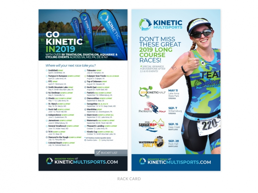 Kinetic Multisports rack card