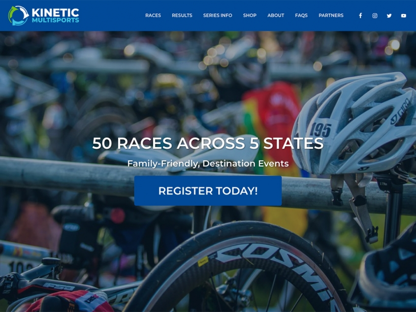 Kinetic Multisports website