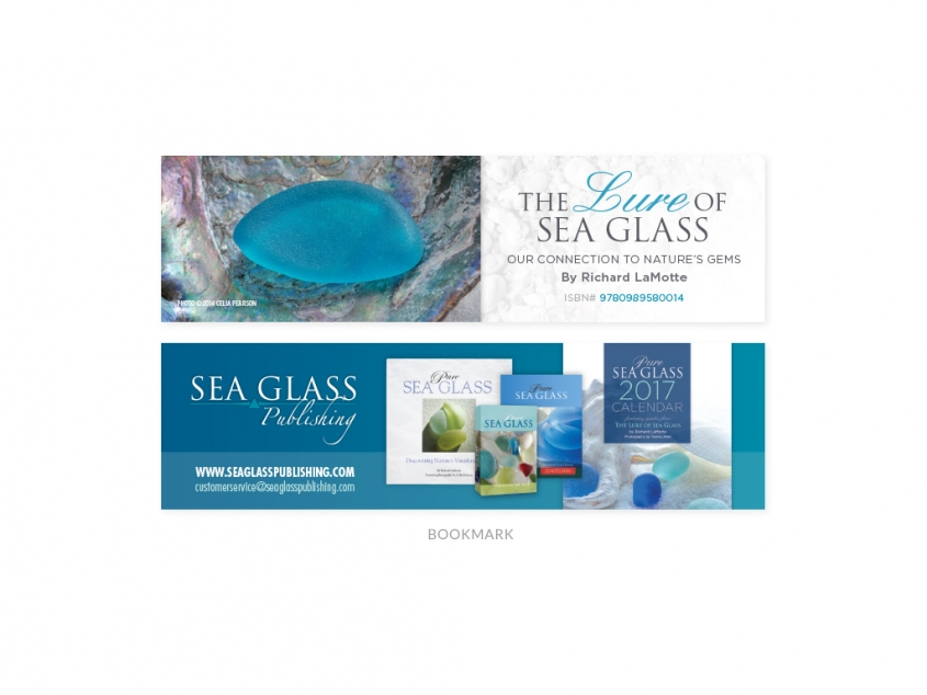 The Lure of Sea Glass bookmark