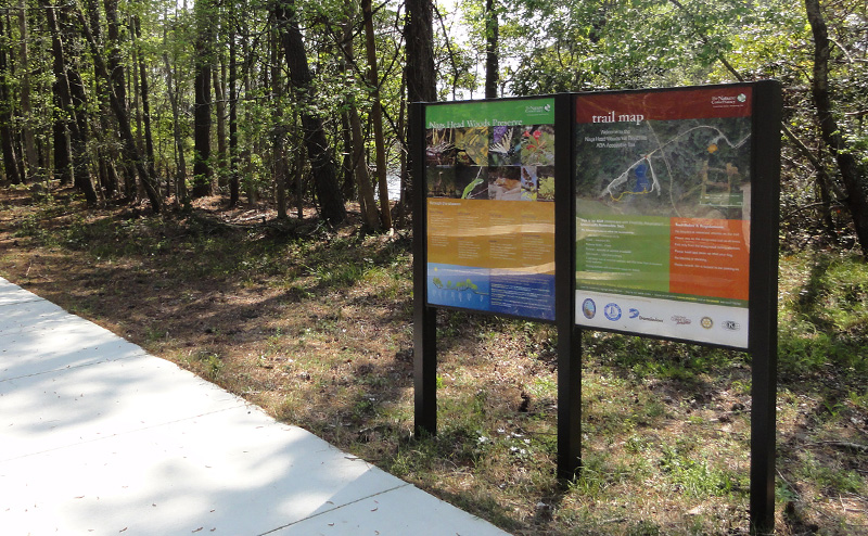 Nags Head Woods preserve trail signage