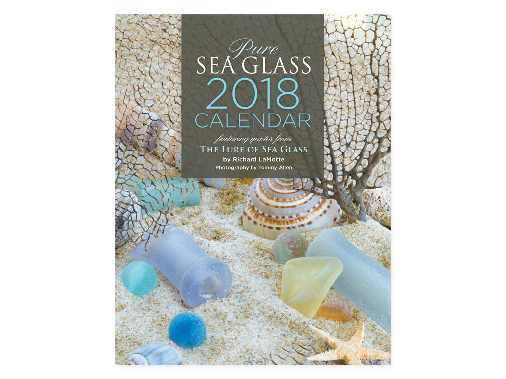 Pure Sea Glass 2018 calendar