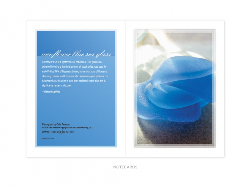 Pure Sea Glass notecards